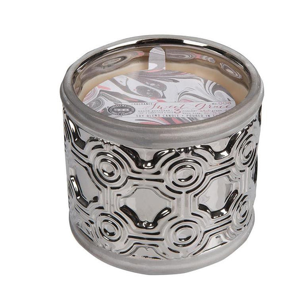 Silver Geometric Sweet Grace Candle