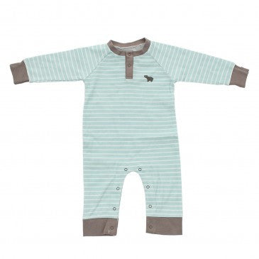 Copy of Organic Cotton Long Sleeve Romper -Arctic Blue Bear
