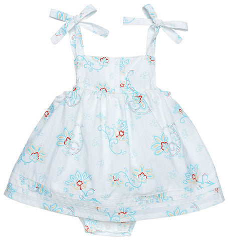 Princess Petal Poplin Bubble Dress with Pintucks