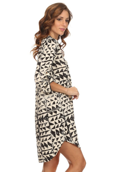 Abstract Tri Dress