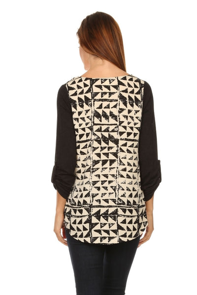 Abstract Tri Blouse