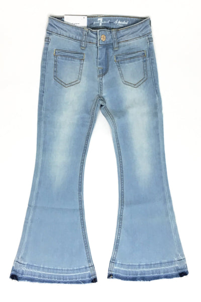 Girls A Pocket Flare Jeans