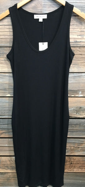 Black Maddie Sleeveless Long Dress