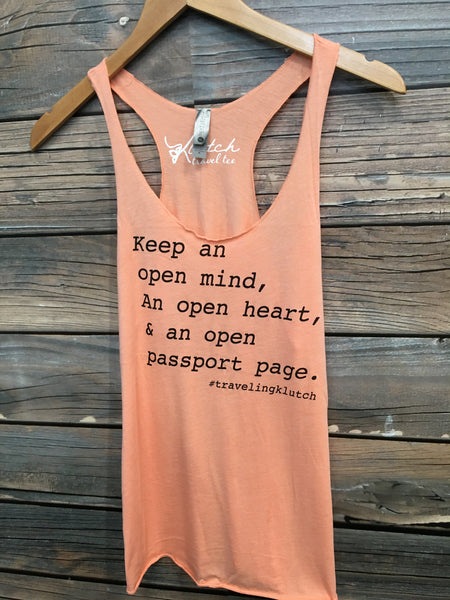 Coral Open Passport Page Tank
