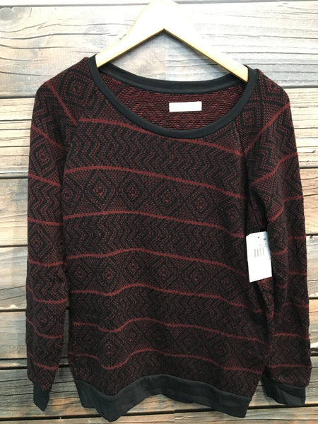 Wine Colored Knit Sweater