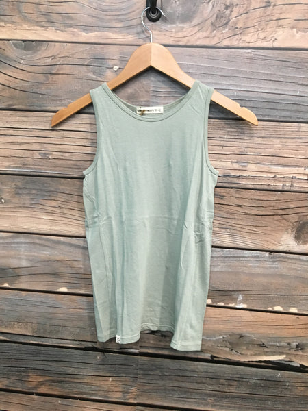 Lennon + Wolfe - Colby Tank Top in Sage