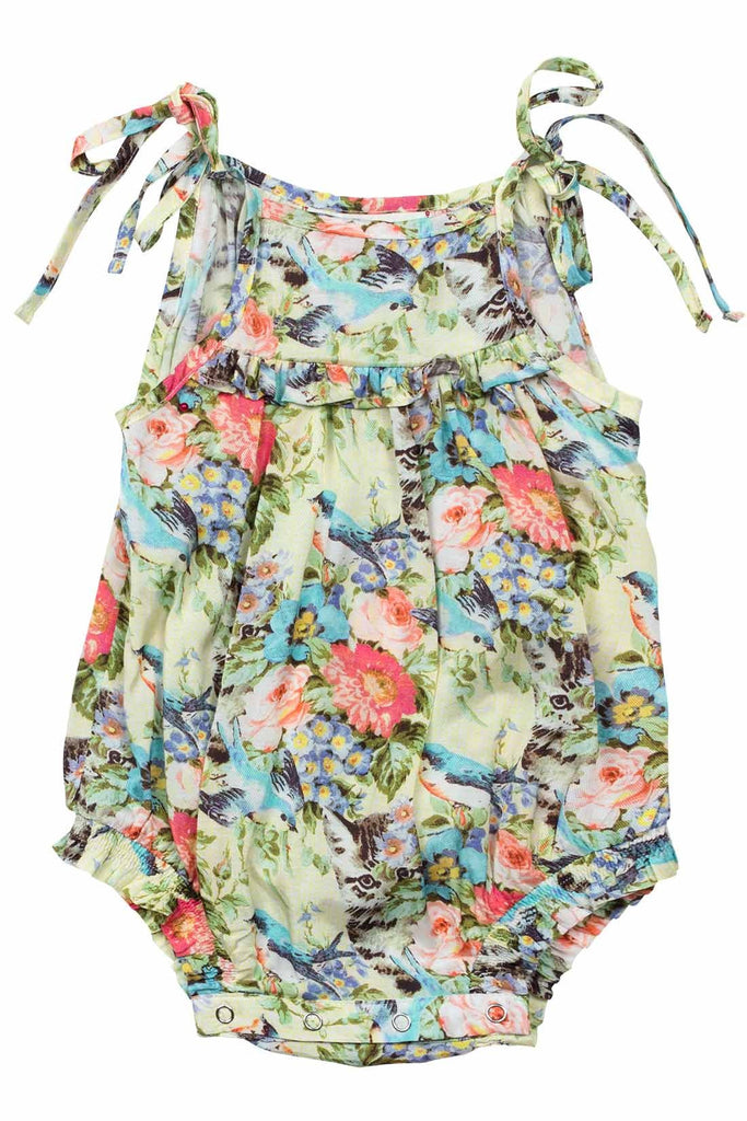 Baby Summer Floral Romper with Ties