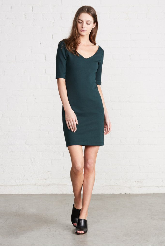 Amour Vert Starla Elbow-Sleeve Dress