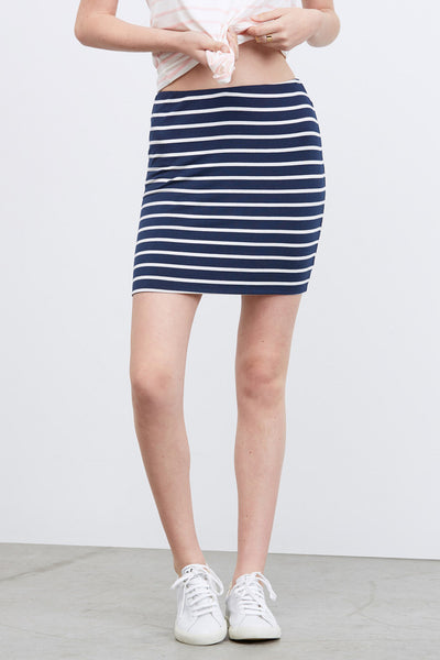 Navy Anja Softest Mini Skirt