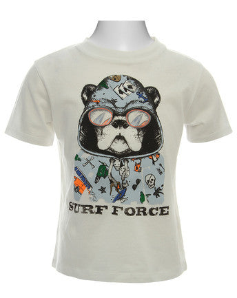 Billy Bandit - S/S T-Shirt ''Surf Force'' Dog White