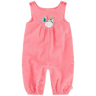 Baby Sleeveless Crepe Jumpsuit