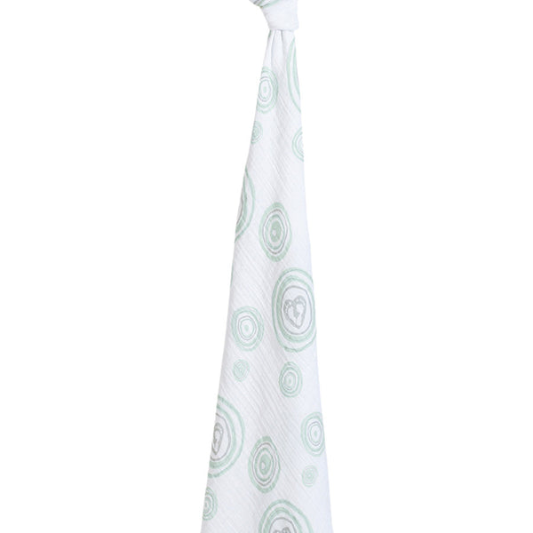 Aden + Anais - Hayden's Heart Single Swaddle - Heart of Mine Green