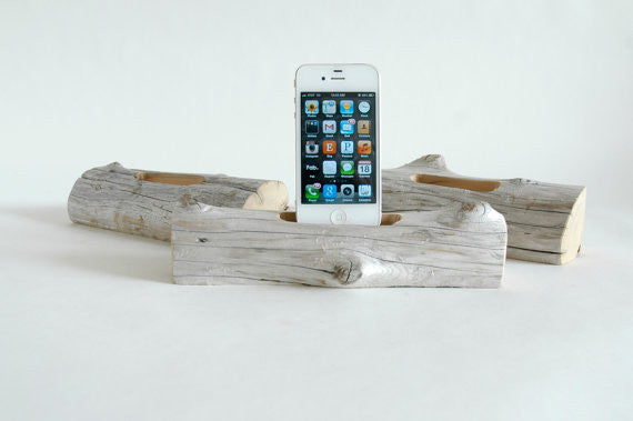 iPhone Driftwood Docking Station
