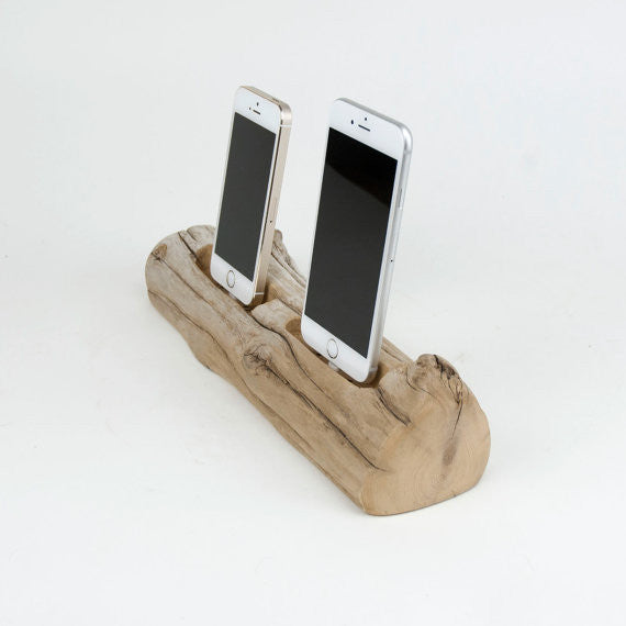 iPhone and iPad Driftwood Docking Station