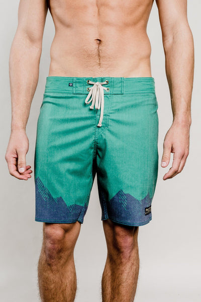 Green Ridged Mountains Boardshorts