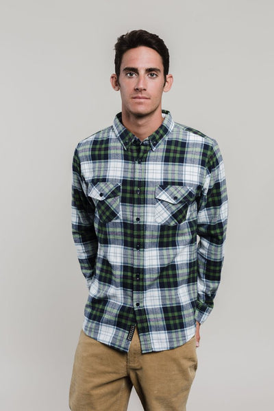 Spruce Plaid Button Down