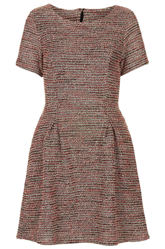 Madison Dress Boucle Red