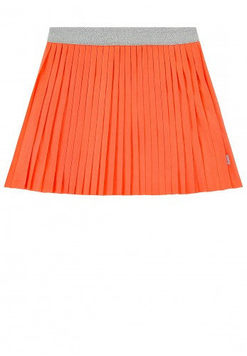 Billie Blush - Jersey Pleated Skirt with Glittered Elastic Waist Orange