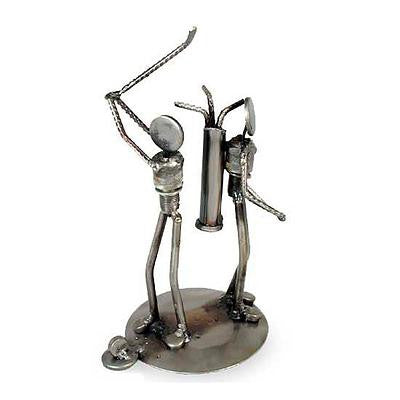 Golfer- Recycled Metal Sculpture