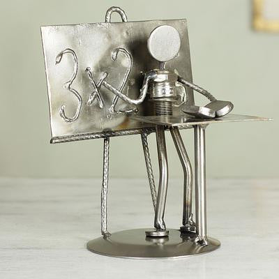 Professor- Recycled Metal Sculpture