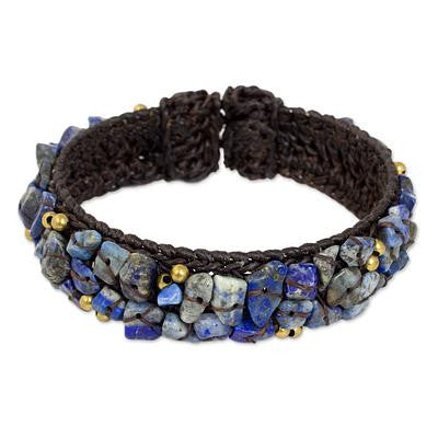 Ocean Day-Fair Trade Lapis Lazuli Cuff Bracelet