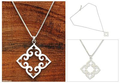 Kaleidoscope Heart- Fair Trade Sterling Silver Necklace
