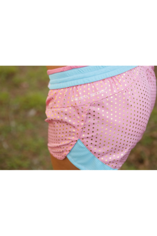 Pink with Gold Foil Dots Shorts