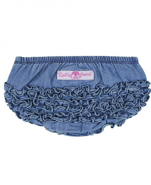 Light Wash Denim Ruffle Bloomers