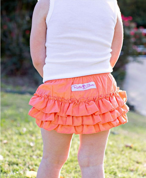 Coral Woven Wave Ruffle Bloomers