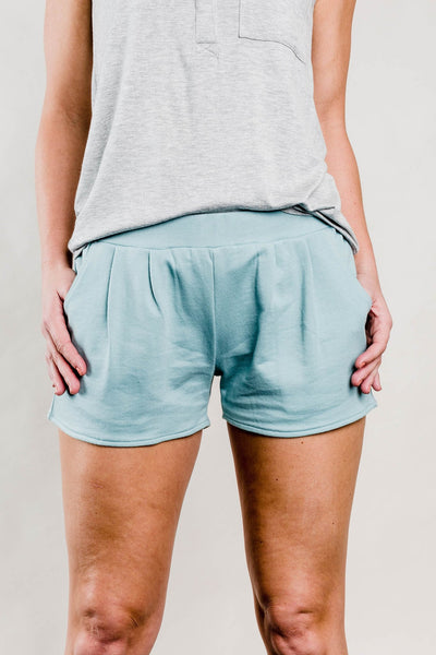 Teal Grayson Shorts