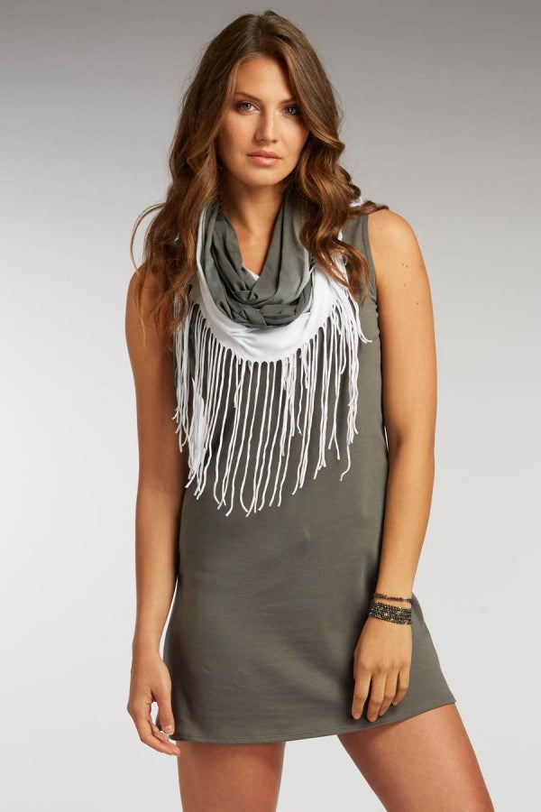 Hand Dipped Fringe Scarf