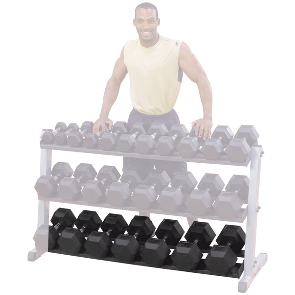 Body-Solid 3 Tier Pro Dumbbell Rack GDR603
