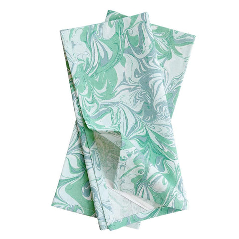 Jade Marble Tea Towels, Set of 2