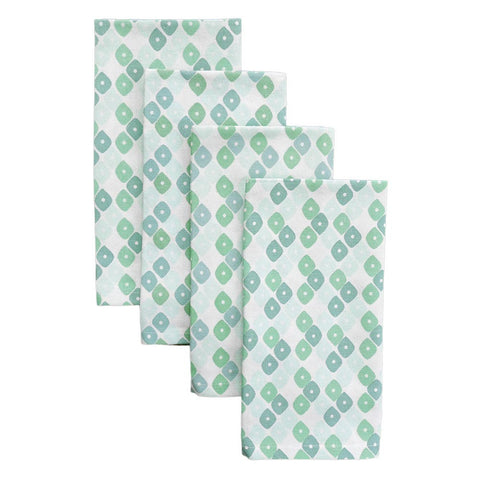 Jade Candy Lattice Napkins, Set of 4