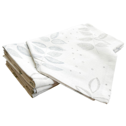 Birch Etched Leaf Napkins, Set of 4