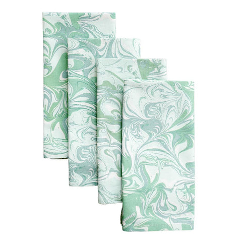 Jade Marble Napkins, Set of 4