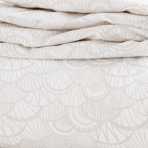 Pebble Scallop Duvet Cover + Sham Set
