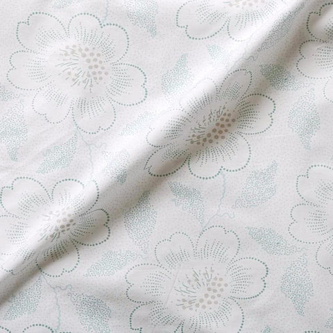 Jade Dot Floral Sheet Set