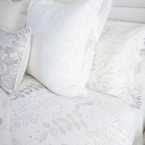 Birch Etched Leaf Duvet Cover + Sham Set