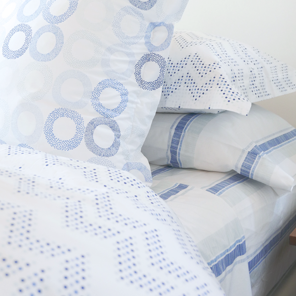 Oasis Dot Chevron Duvet Cover + Sham Set