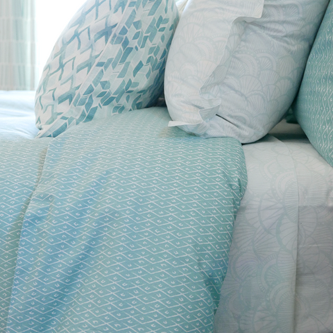 Seaglass Criscross Duvet Cover + Sham Set