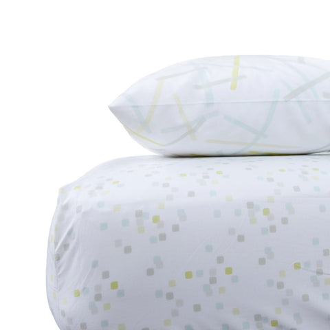 Lemon Confetti Crib Sheet Set