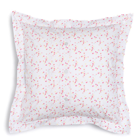 Coral Confetti Euro Shams, Set of 2