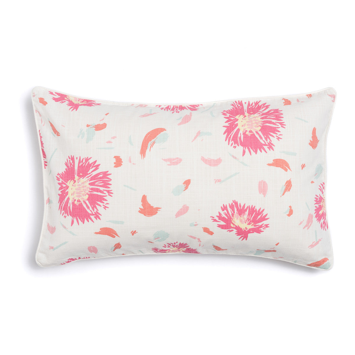 "Coral 16"" x 26"" Wildflower + Pickupstix Reversible Accent Pillow"