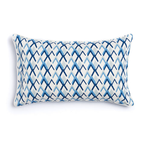 "Oasis 16"" x 26"" Criscross + Peaks Reversible Accent Pillow"