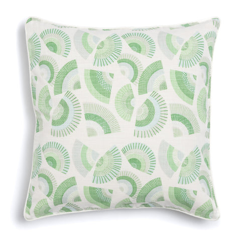 "Grass 20"" x 20"" Fans + Palette Reversible Accent Pillow"