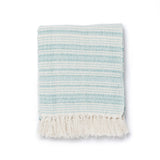 Seaglass Stripe Throw Blanket