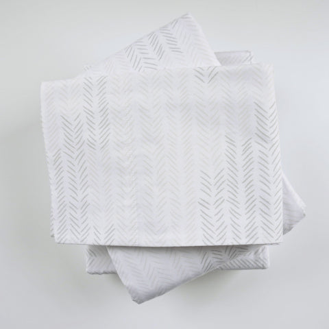 Birch Etched Chevron Sheet Set