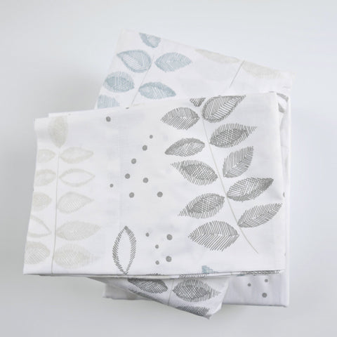 Birch Etched Leaf Sheet Set