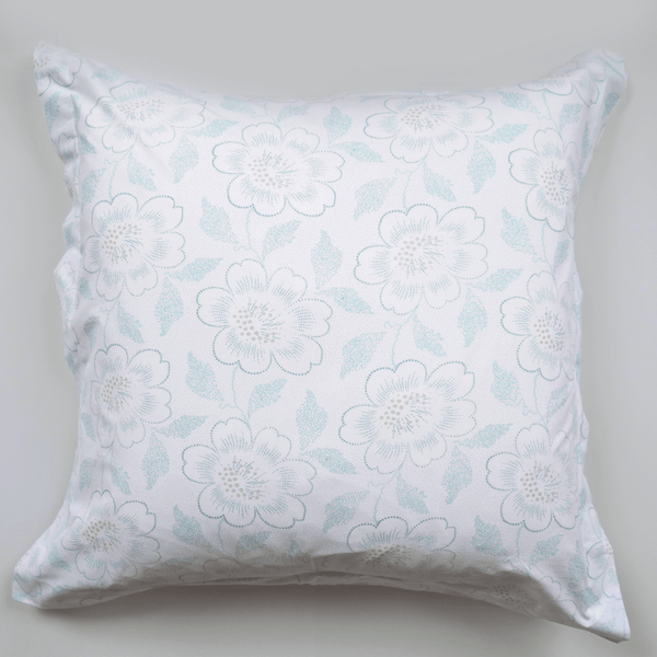 Jade Dot Floral Euro Shams, Set of 2